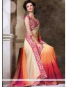Genius Embroidered Work Multi Colour Designer Saree
