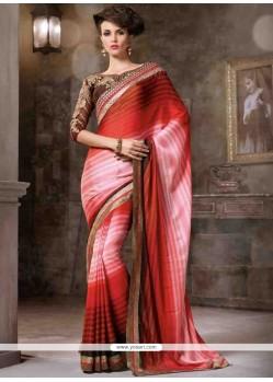 Breathtaking Lace Work Contemporary Saree