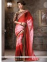 Breathtaking Lace Work Contemporary Saree