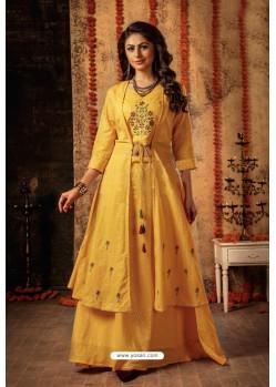Yellow Designer Navaratri Special Lehenga Suit