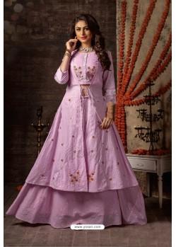 Light Pink Designer Navaratri Special Lehenga Suit
