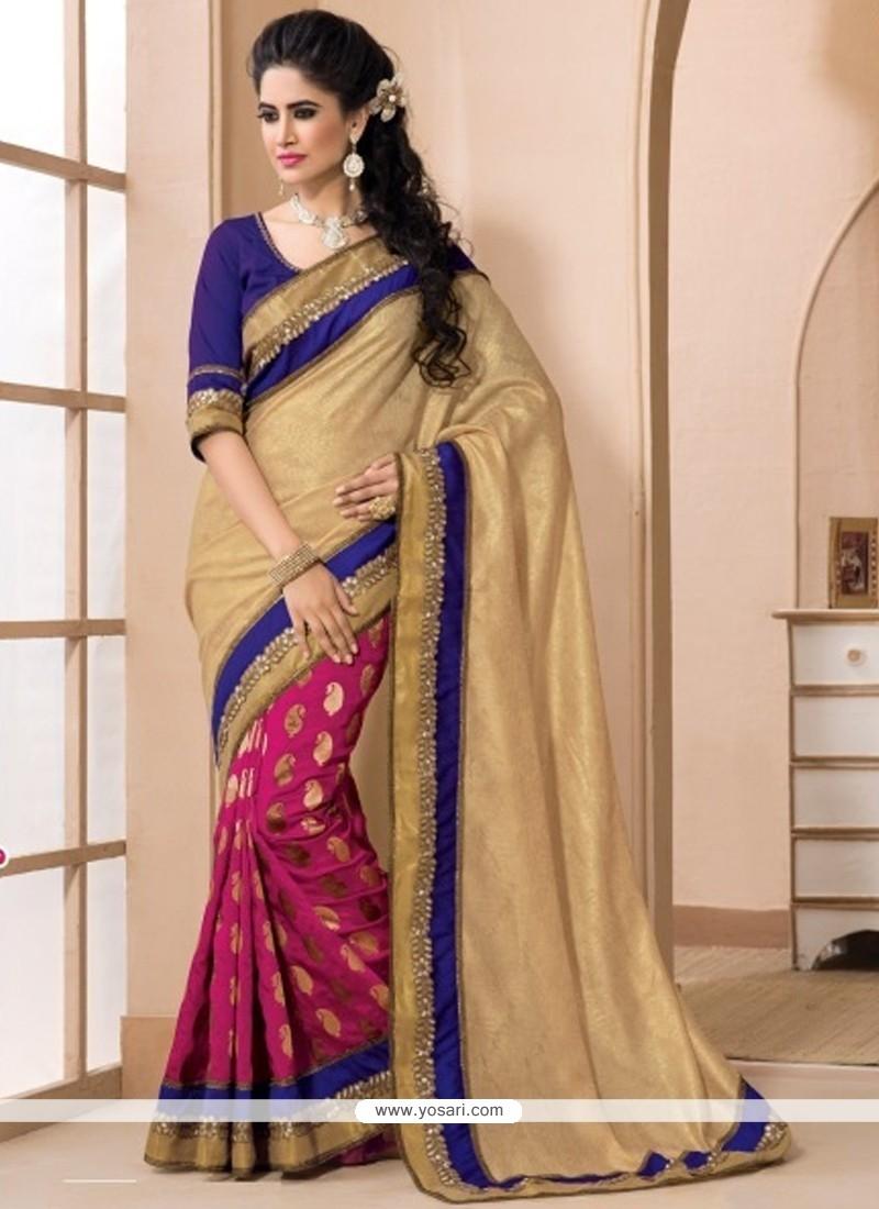 Celestial Jacquard Resham Work Designer Saree