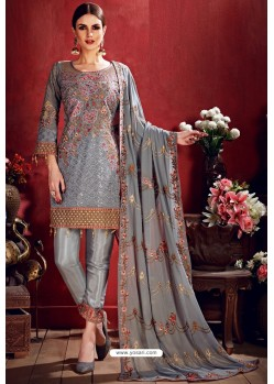 Grey Latest Georgette Designer Suits