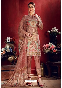 Light Brown Latest Georgette Designer Suits