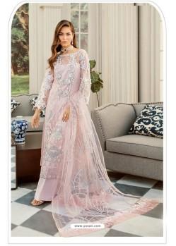 Baby Pink Pakistani Style Heavy Net Designer Suit