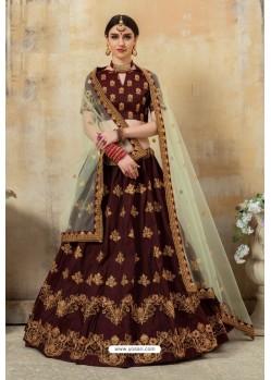 Maroon Latest Pantom Silk Designer Lehenga Choli