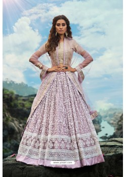 Mauve Latest Soft Net Designer Lehenga Choli