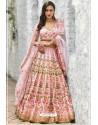Baby Pink Chennai Silk Designer Lehenga Choli