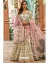 Off White Chennai Silk Designer Lehenga Choli