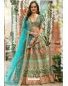 Teal And Mint Chennai Silk Designer Lehenga Choli