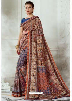 Multi Colour Silk Latest Party Wear Saree
