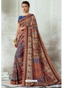 Multi Colour Silk Latest Party Wear Saree