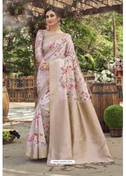 Multi Colour Designer Silk Party Wear Digital Printed Saree