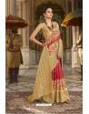 Red Designer Silk Party Wear Digital Printed Saree