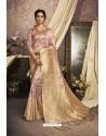 Latest Peach Designer Silk Digital Printed Saree