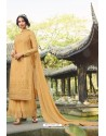 Golden Chinon Latest Party Wear Palazzo Suit