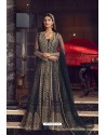 Navy Blue Butterfly Net Heavy Designer Indo Western Suit