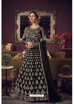 Black Premium Net Heavy Designer Indo Western Suit
