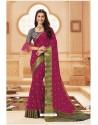 Medium Violet Latest Designer Satin Silk Saree