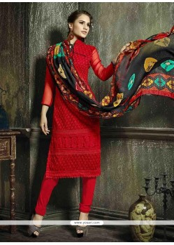 Royal Resham Work Churidar Salwar Suit
