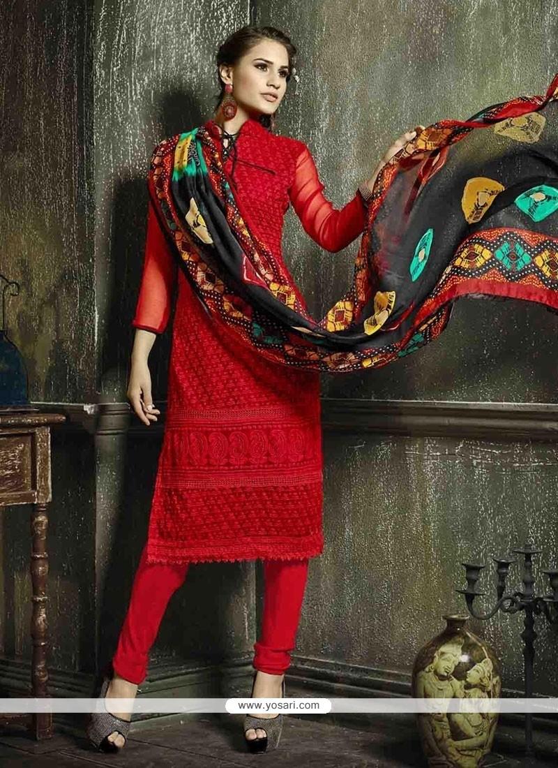 Royal Resham Work Churidar Salwar Suit