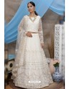 White Net Thread Embroidered Designer Lehenga Choli