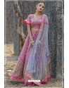 Hot Pink Butterfly Net Party Wear Lehenga Choli