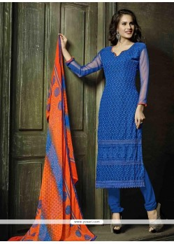 Sumptuous Embroidered Work Churidar Salwar Suit
