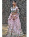 Pink Butterfly Net Party Wear Lehenga Choli