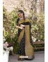 Black Designer Classic Wear Weaving Zari Silk Saree