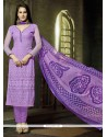 Sterling Georgette Lavender Churidar Salwar Suit