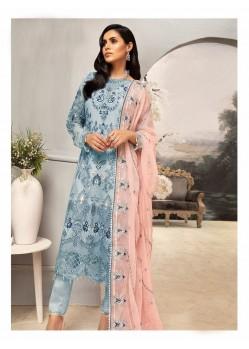 Blue Net Designer Pakistani Style Salwar Suit