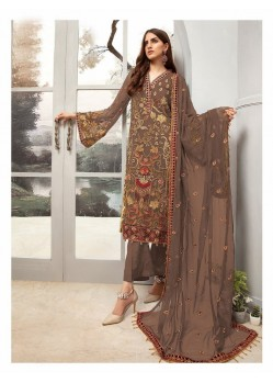 Light Brown Georgette Designer Pakistani Style Salwar Suit