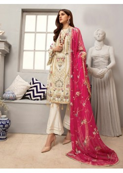 Off White Georgette Designer Pakistani Style Salwar Suit
