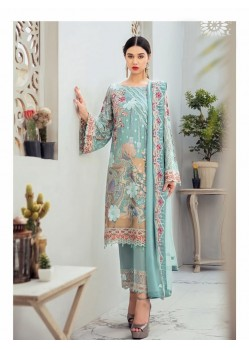 Sea Green Georgette Embroidered Designer Pakistani Style Suit