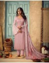 Pink Pure Chinnon Designer Straight Suit
