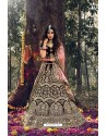 Maroon Pure Velvet Designer Wedding Wear Lehenga Choli