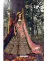 Amazing Maroon Pure Velvet Designer Wedding Wear Lehenga Choli