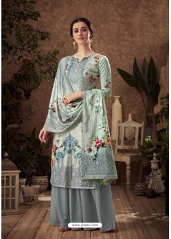 Multi Colour Designer Pure Viscose Velvet Palazzo Suit