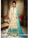 Subtle Cream Anarkali Salwar Kameez