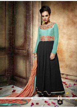 Dashing Black Anarkali Salwar Kameez