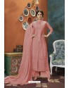 Peach Heavy Faux Georgette Readymade Palazzo Suit