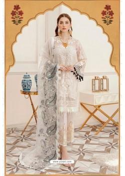 White Designer Georgette Pakistani Style Suit
