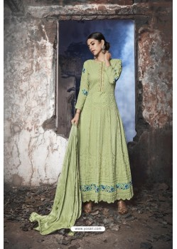 Sea Green Heavy Designer Georgette Anarkali Suit