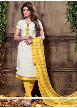 Artistic Jacquard Churidar Designer Suit