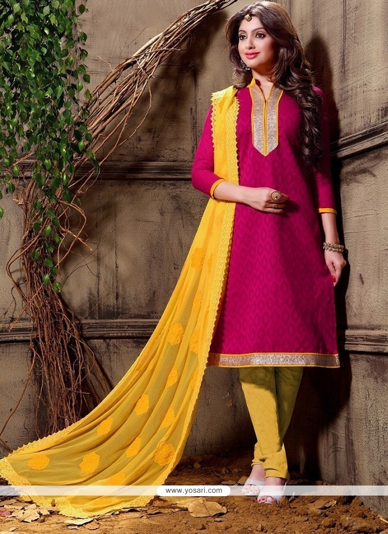 Fabulous Cotton Churidar Designer Suit