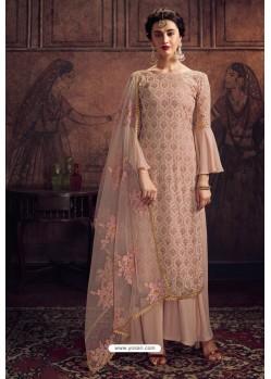 Pink Rangoli Georgette Designer Palazzo Suit