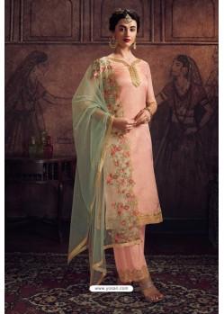 Pretty Pink Rangoli Georgette Designer Suit