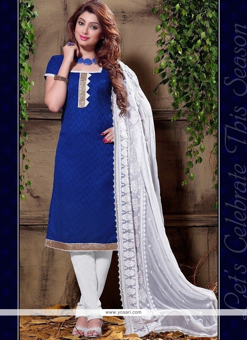 Opulent Cotton Churidar Designer Suit