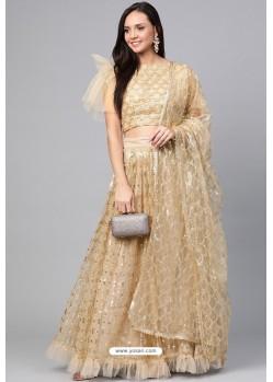 Beige Latest Designer Party Wear Fancy Lehenga Choli